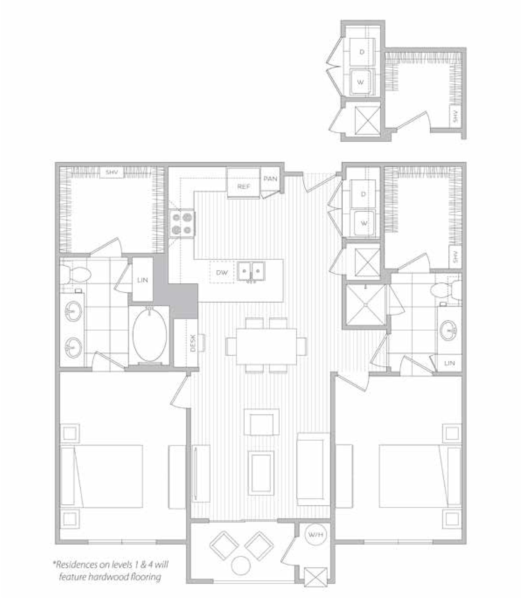 floor plan image of apartment 3306