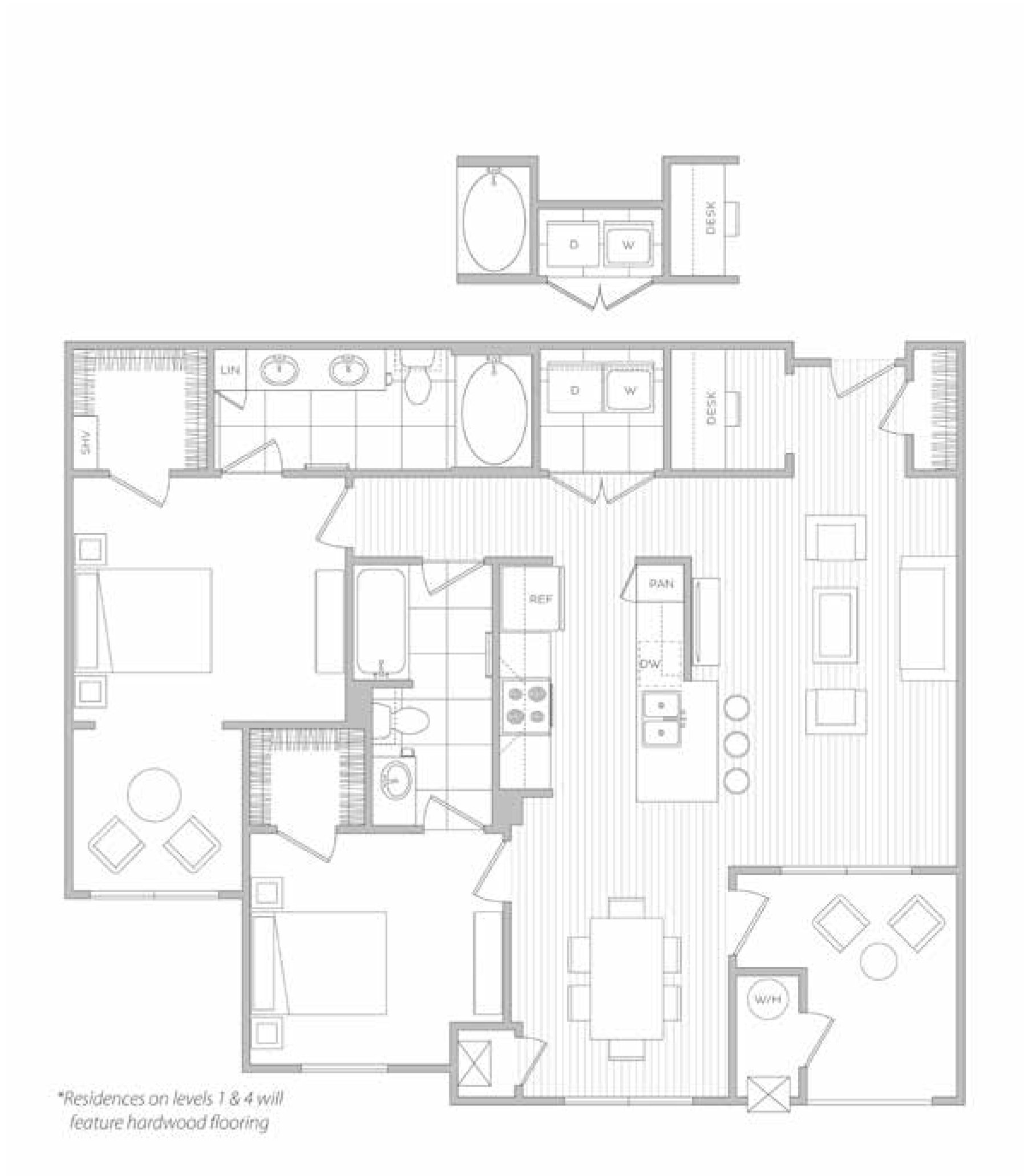 floor plan image of apartment 4303