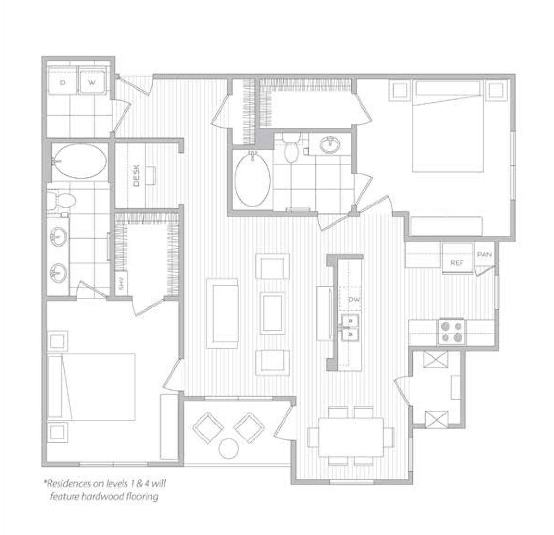 floor plan image of apartment 3312