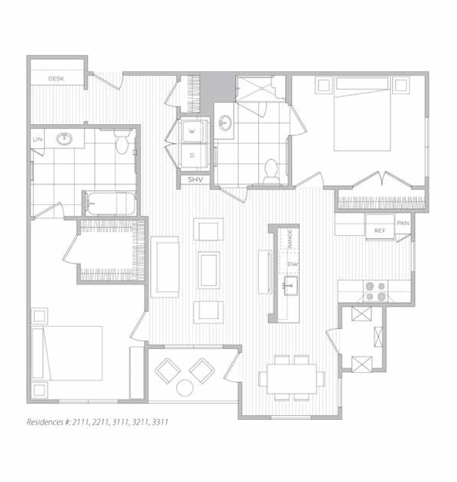 floor plan image of apartment 3211