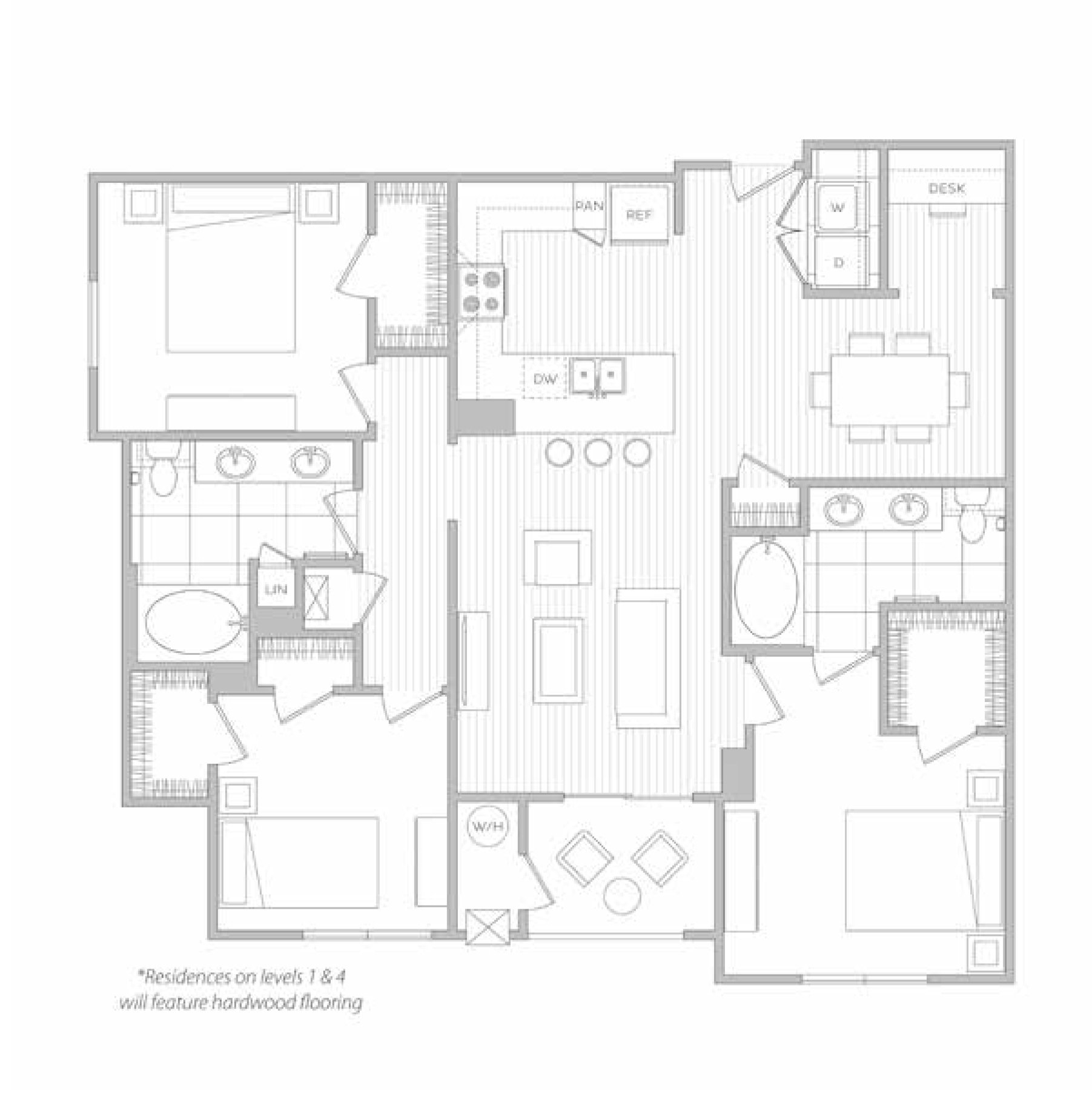 floor plan image of apartment 1202