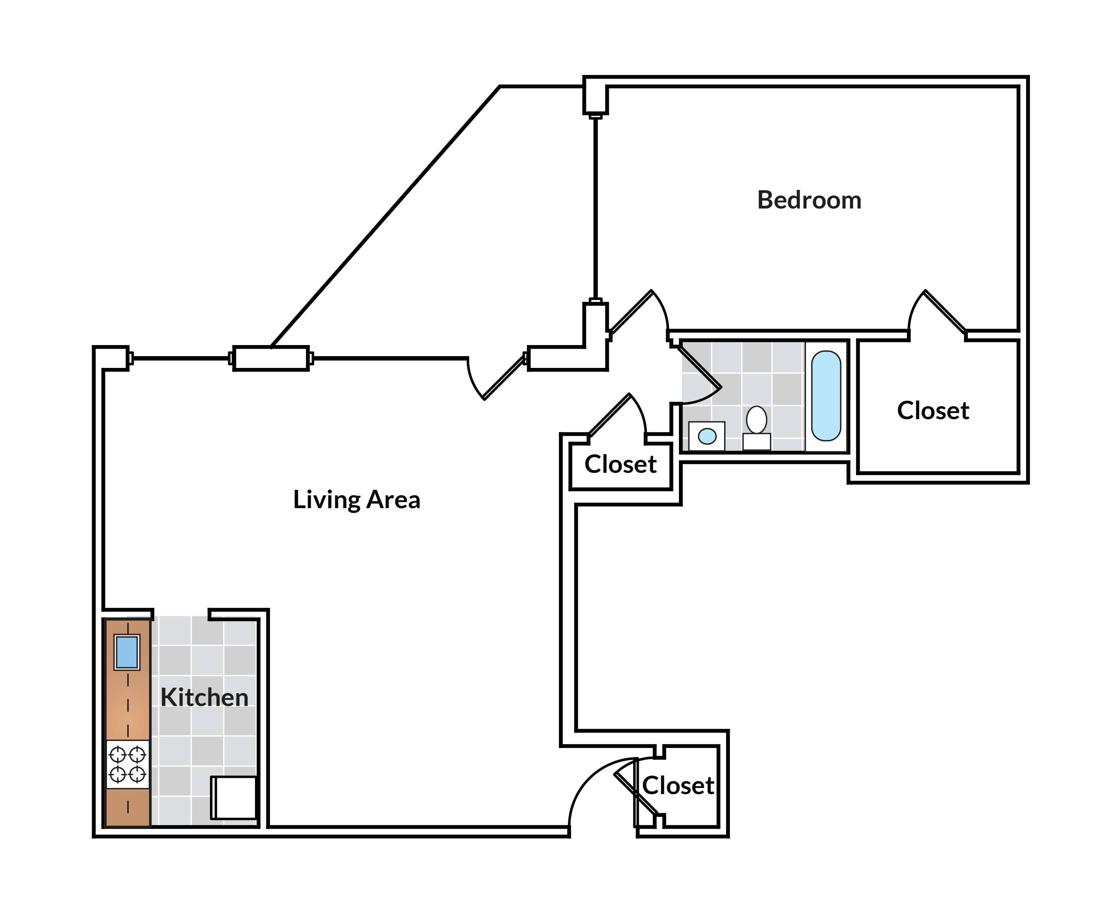 1 Bedroom with balcony 02 Tier
