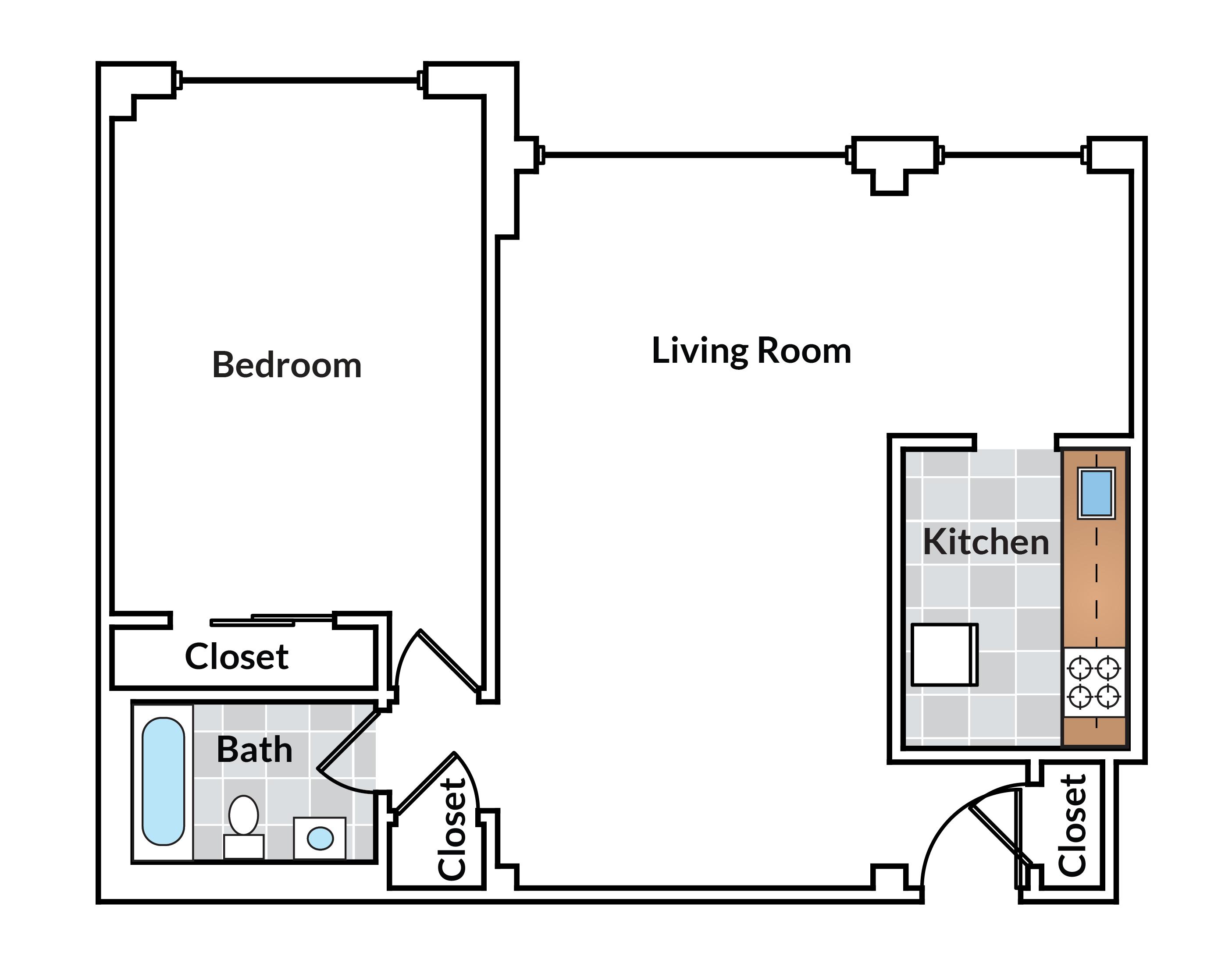 1 Bedroom 13 Tier