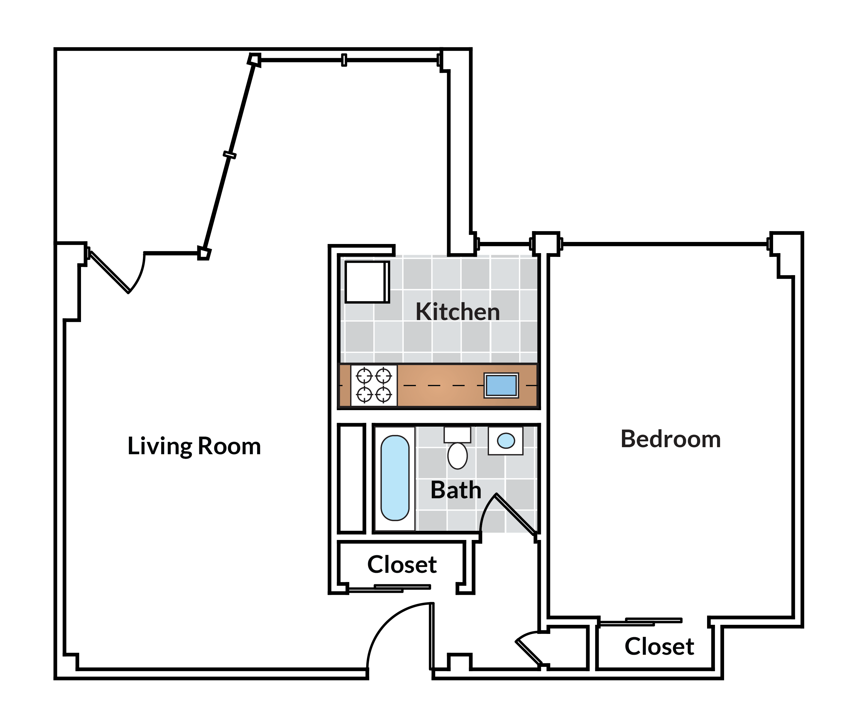 1 Bedroom with balcony 29 Tier