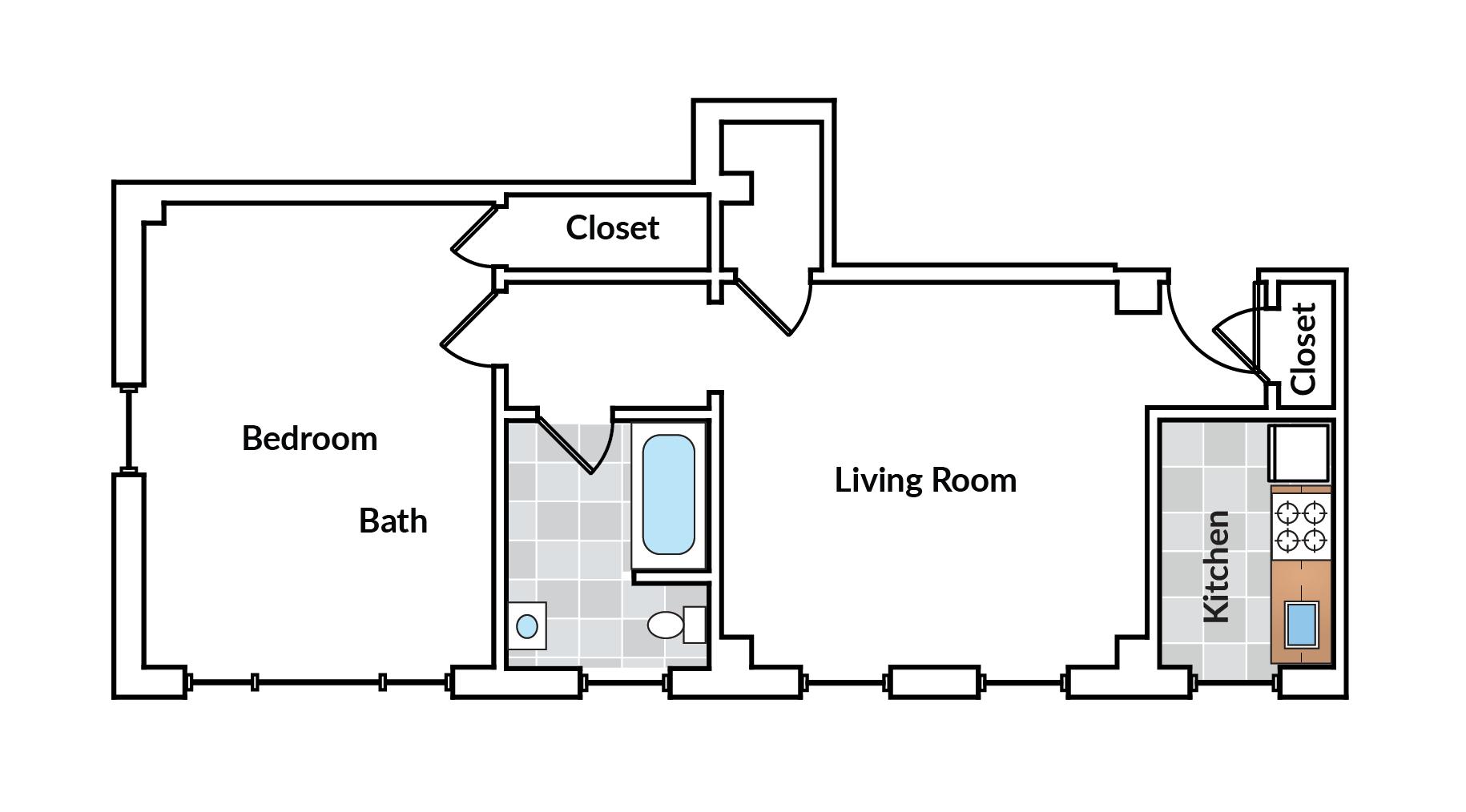 1 Bedroom 01 Tier