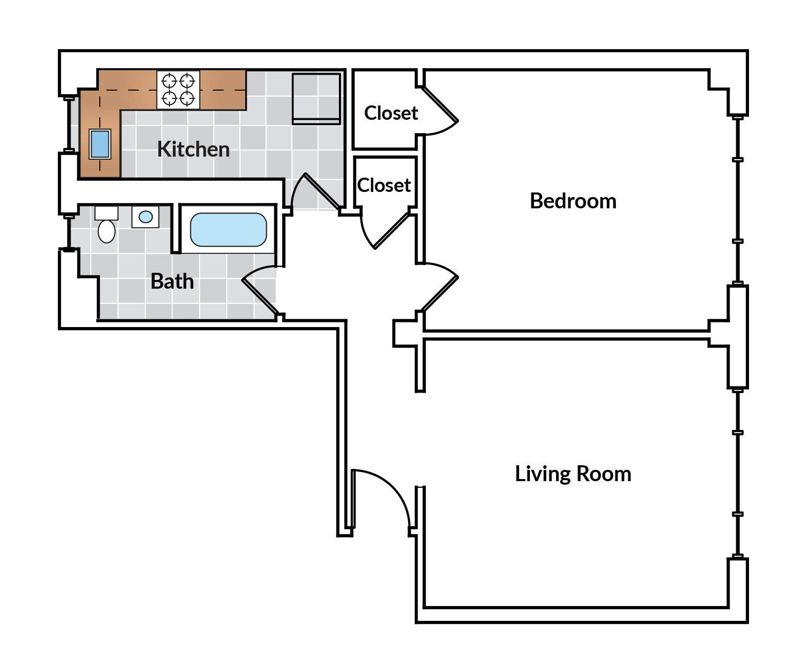 1 Bedroom 03 Tier