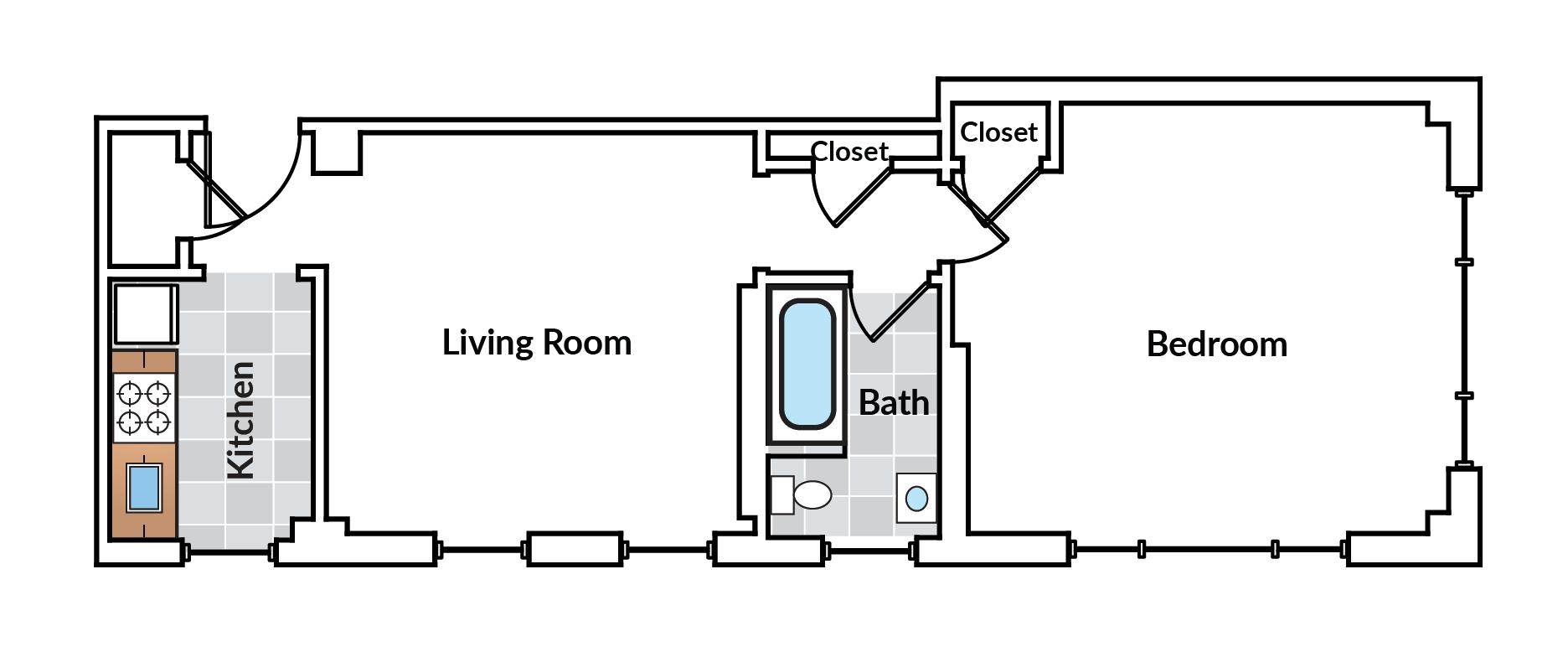 1 Bedroom 04 Tier