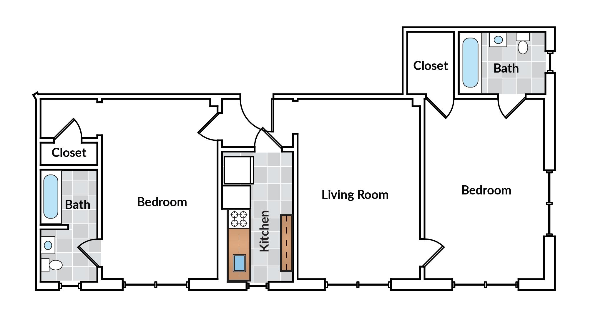 2 Bedroom 11 Tier