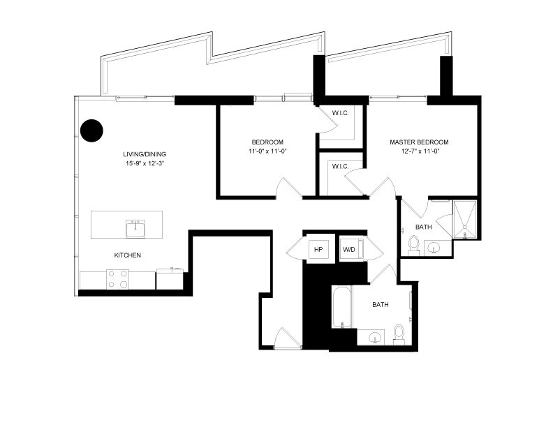 Floor plan image for residence number 2302