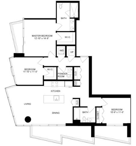 Floor plan image for residence number 2903A