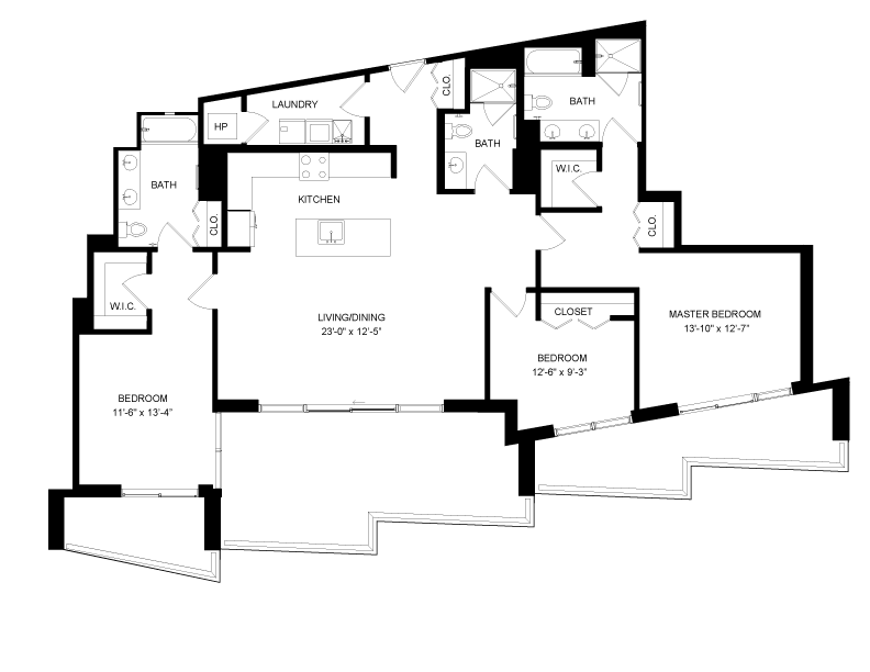 Floor plan image for residence number 2911A