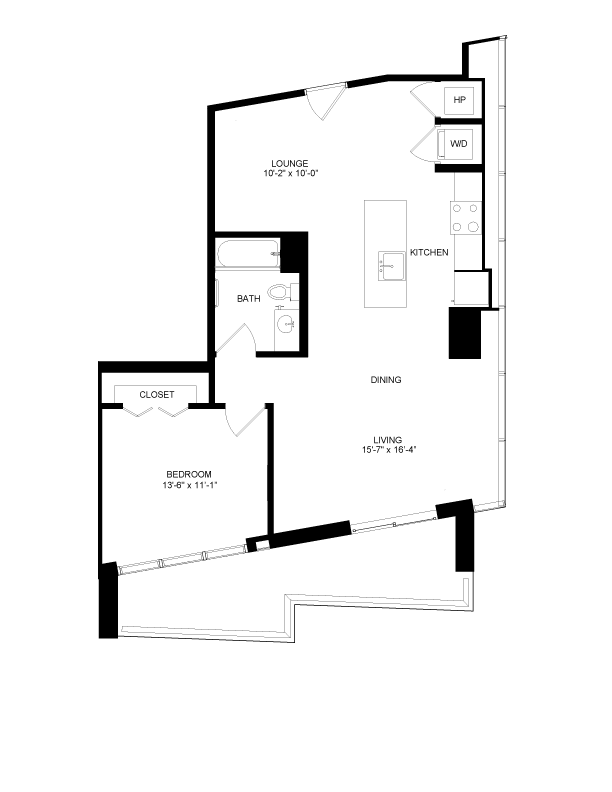 Floor plan image for residence number 615-A
