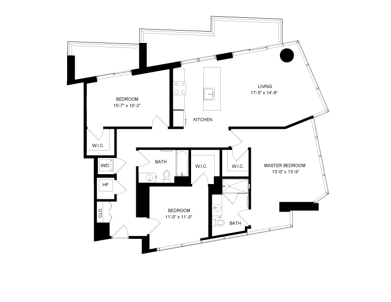 Floor plan image for residence number 616A