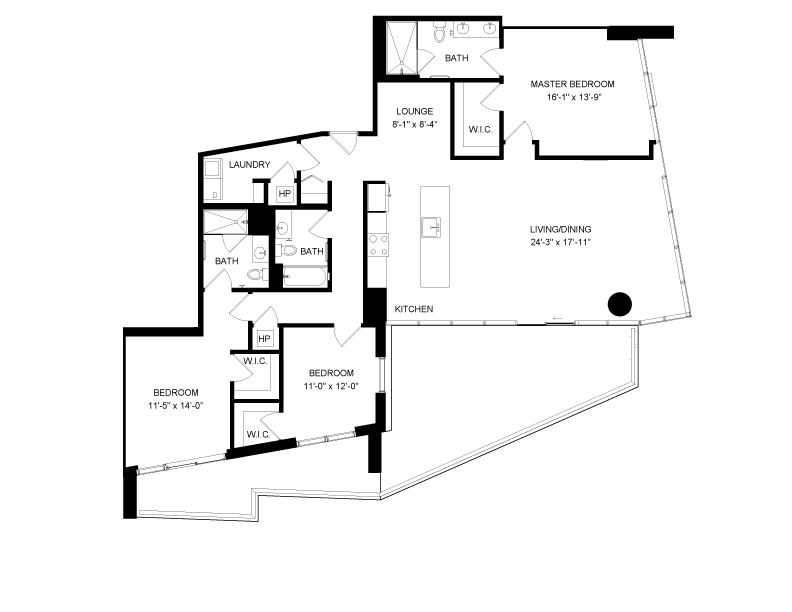 Floor plan image for residence number 2717A