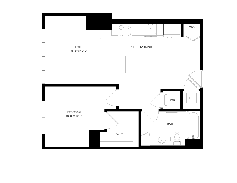 Floor plan image for residence number 0401