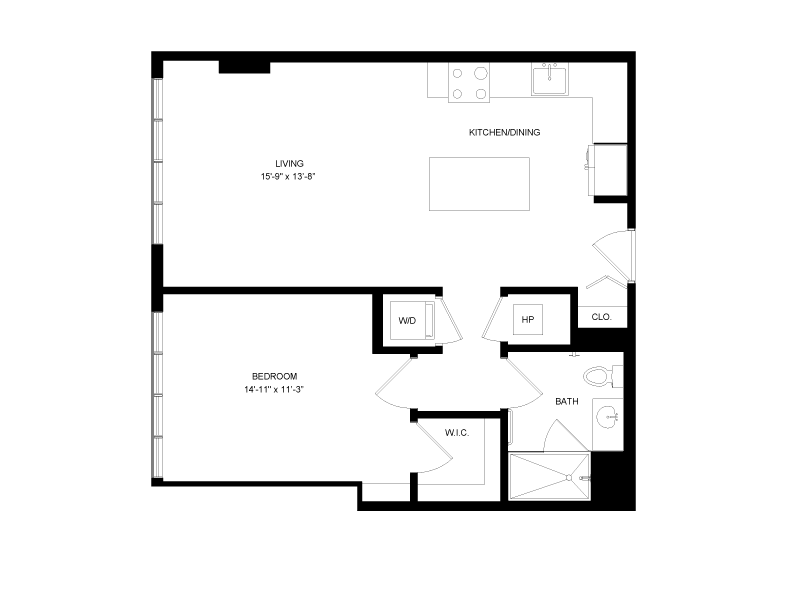 Floor plan image for residence number 0402