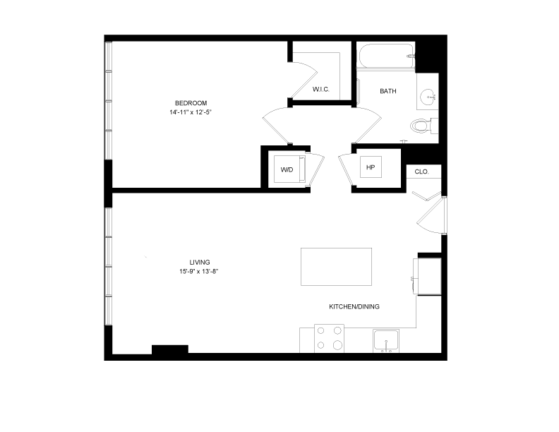 Floor plan image for residence number 0403