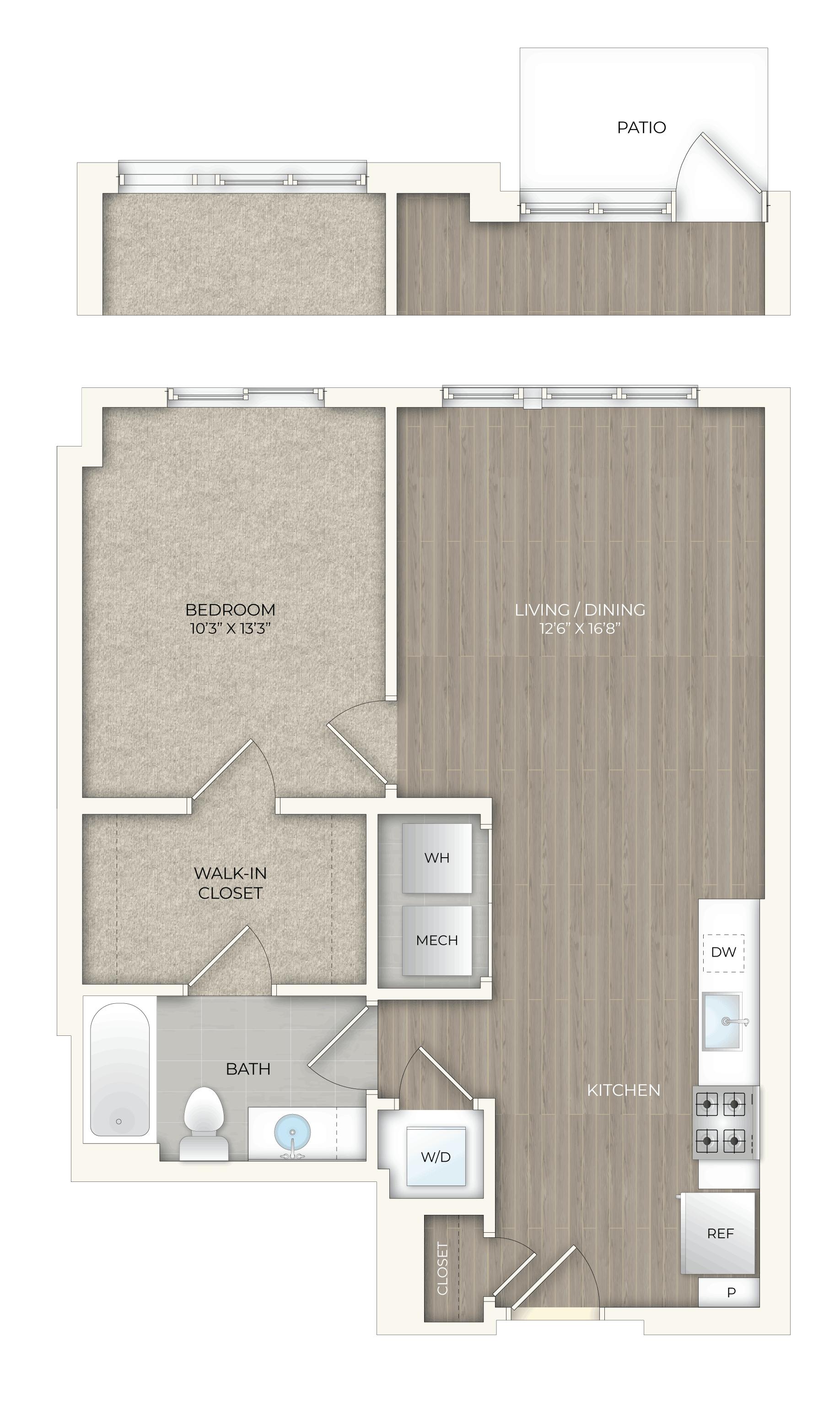 floor plan image of apartment T19