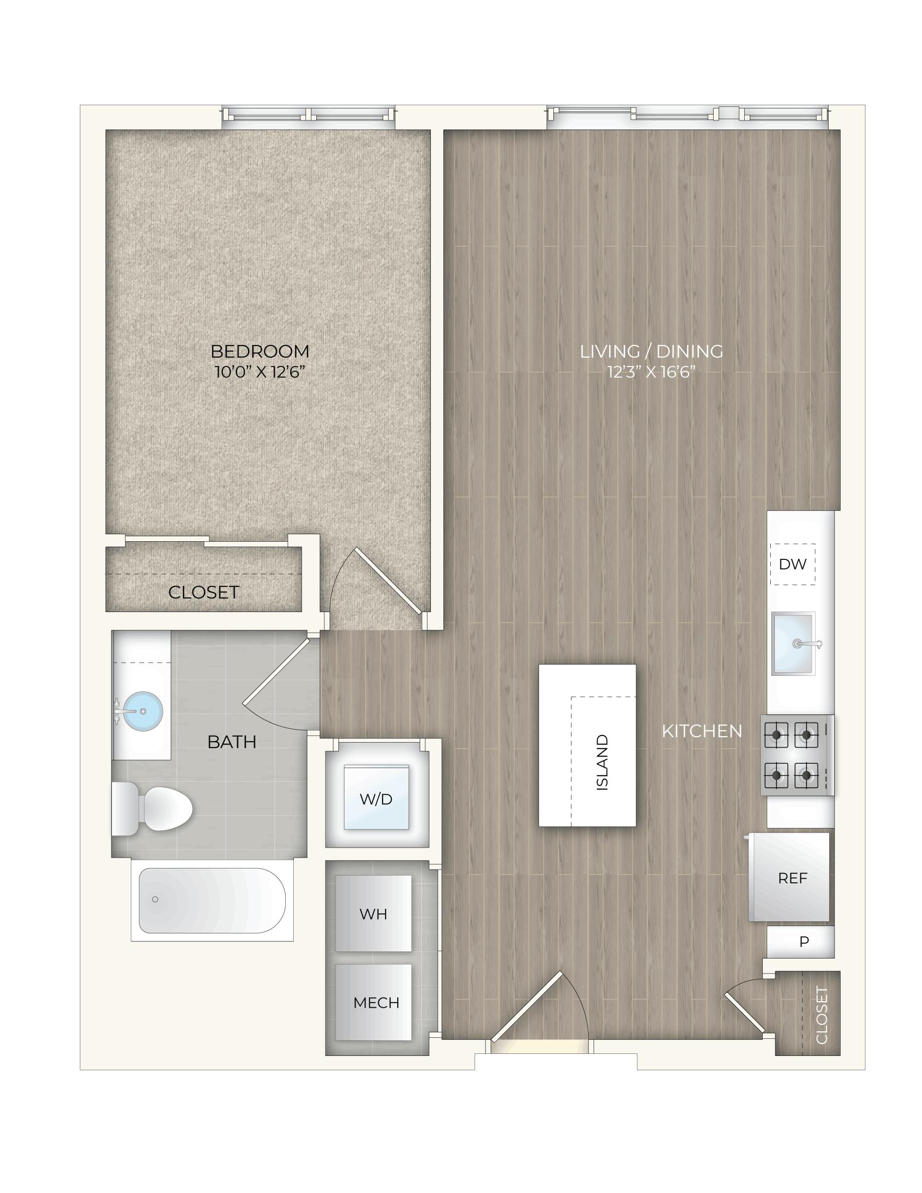 floor plan image of apartment 541