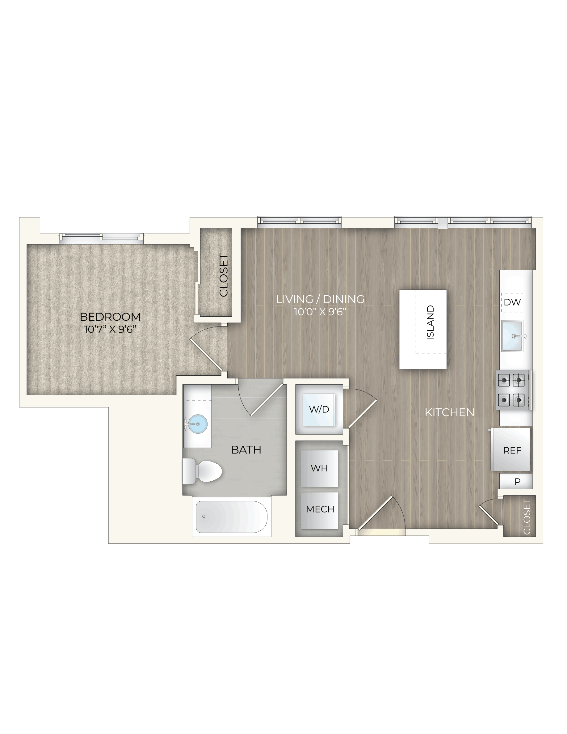 floor plan image of apartment 329S