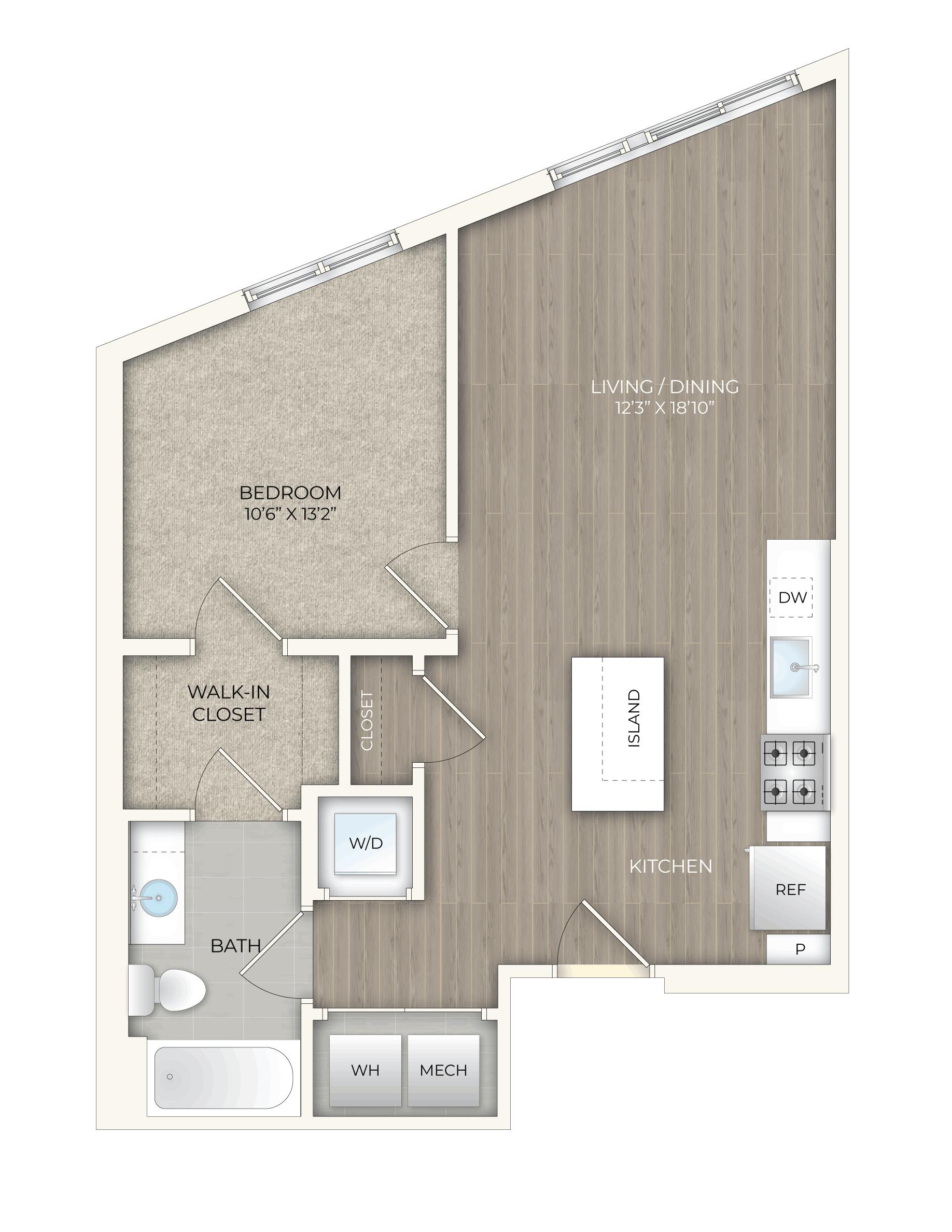 floor plan image of apartment 406S