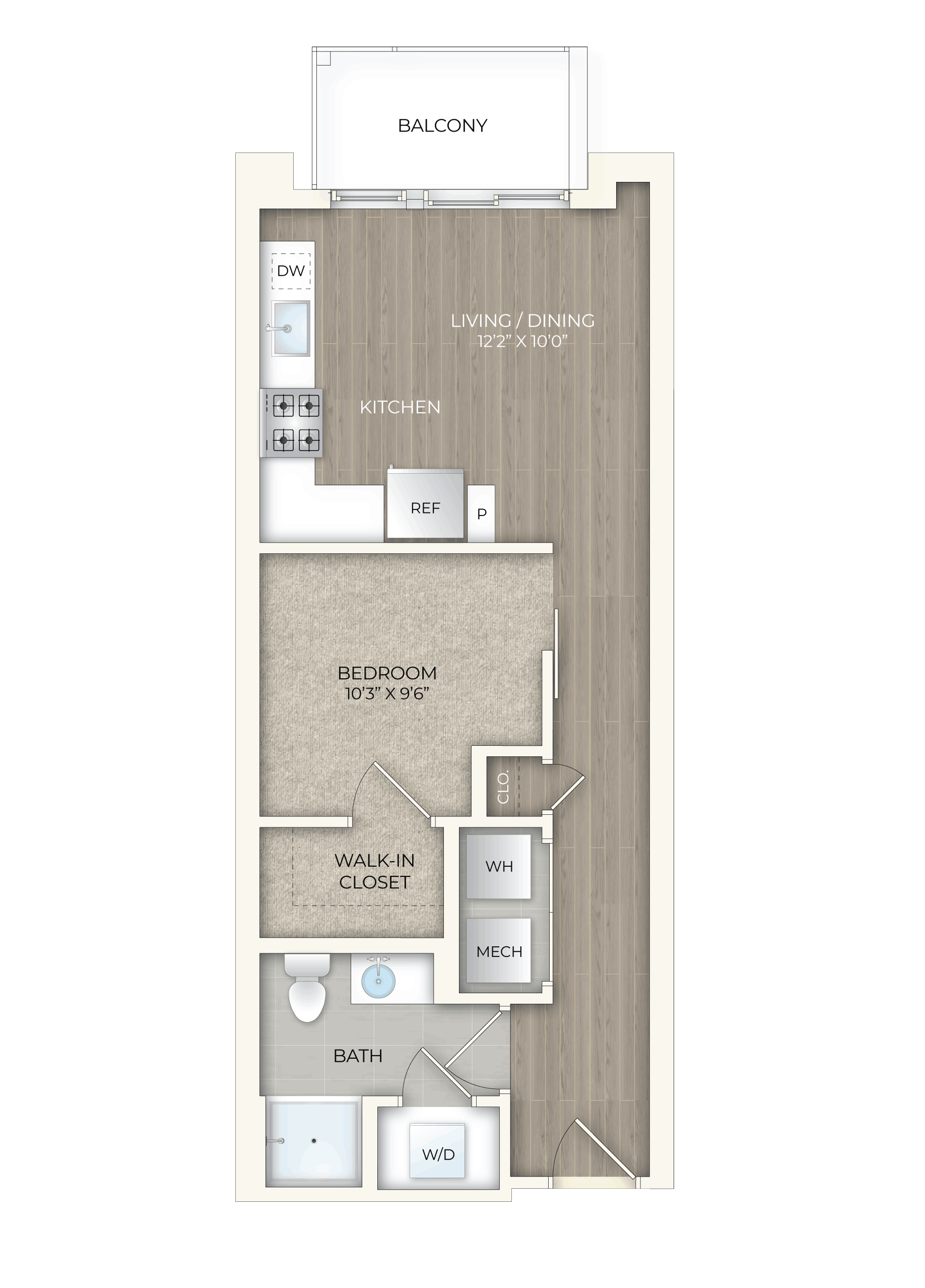 floor plan image of apartment 510S