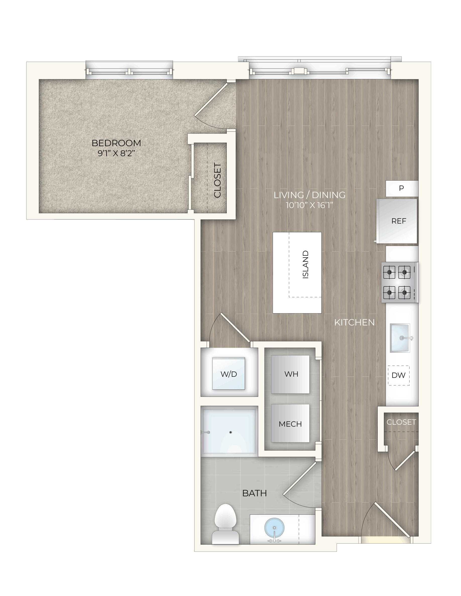 floor plan image of apartment 443