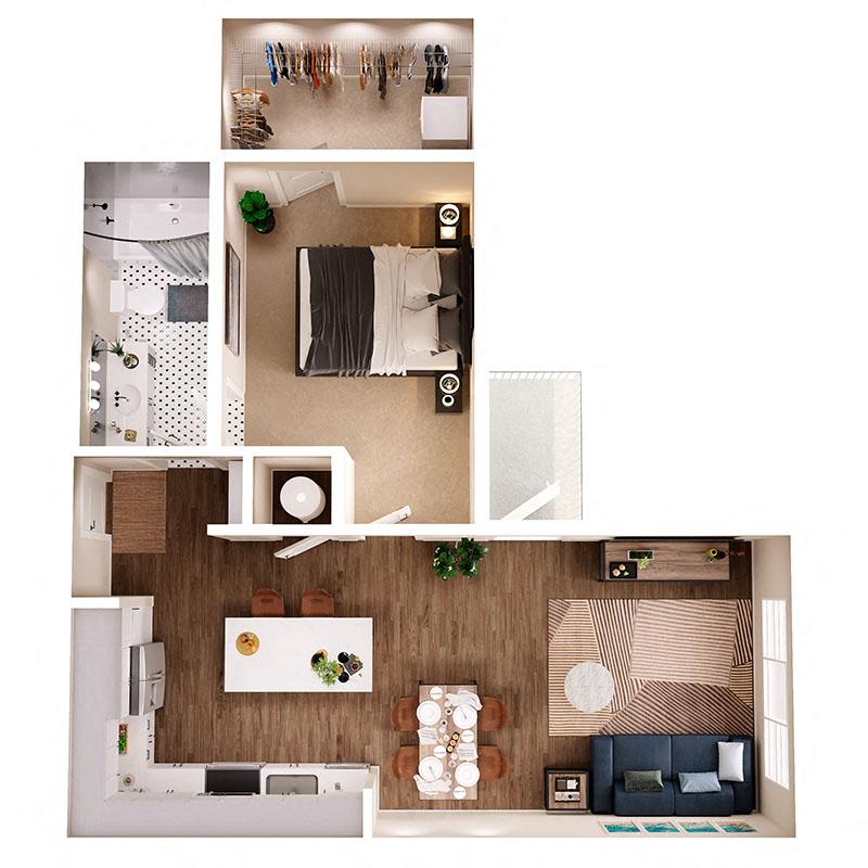 Floor Plan A7B Layout
