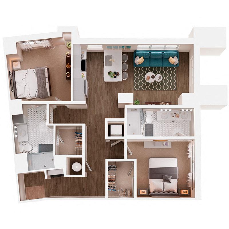 Floor Plan B6 Layout
