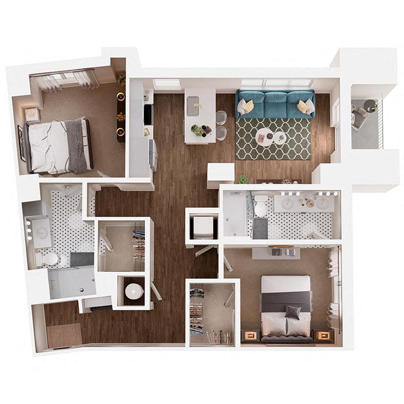 Floor Plan B6B1 Layout