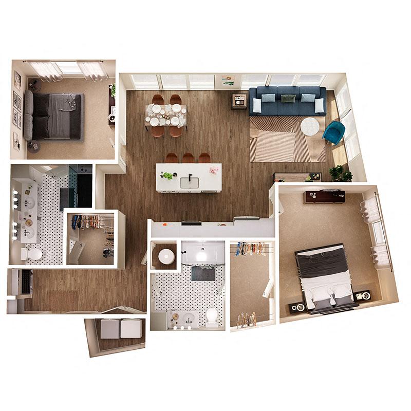 Floor Plan B7 Layout