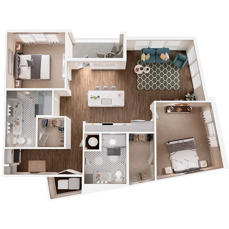 Floor Plan B7B Layout