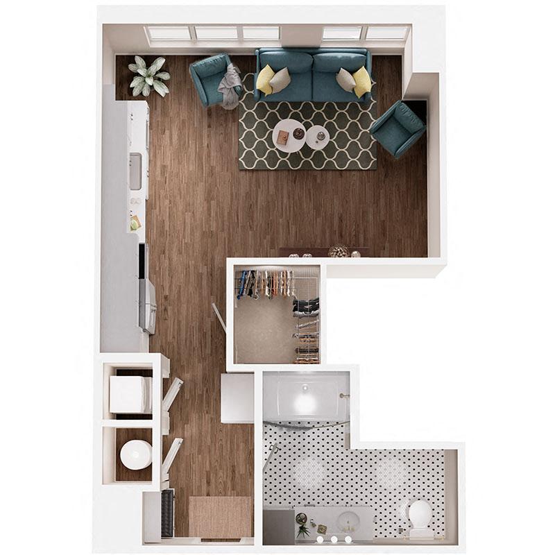 Floor Plan S2B Layout