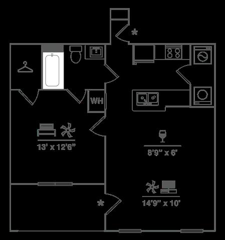 One Bedroom w/ Garage