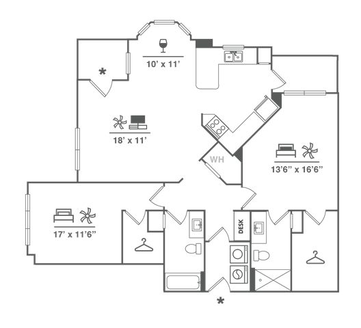 Two Bedroom w/ Garage