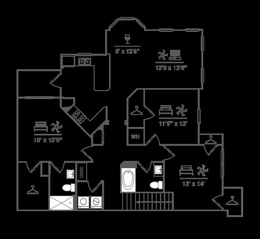 Three Bedroom w/ Garage