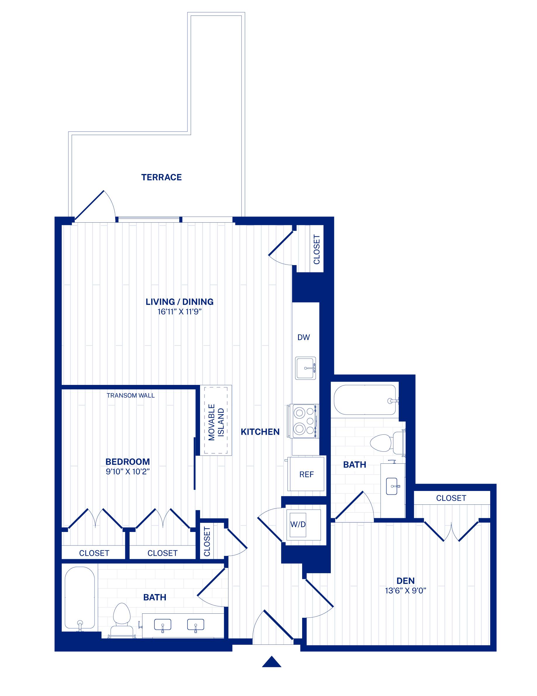 Residence 305 floorplan