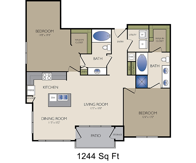 Floor plans houston heights apartments 2125 yale for Kaplan floor plan