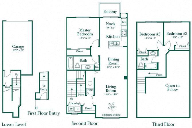 1, 2 or 3 Bedroom Apartments in Novi | Brownstones