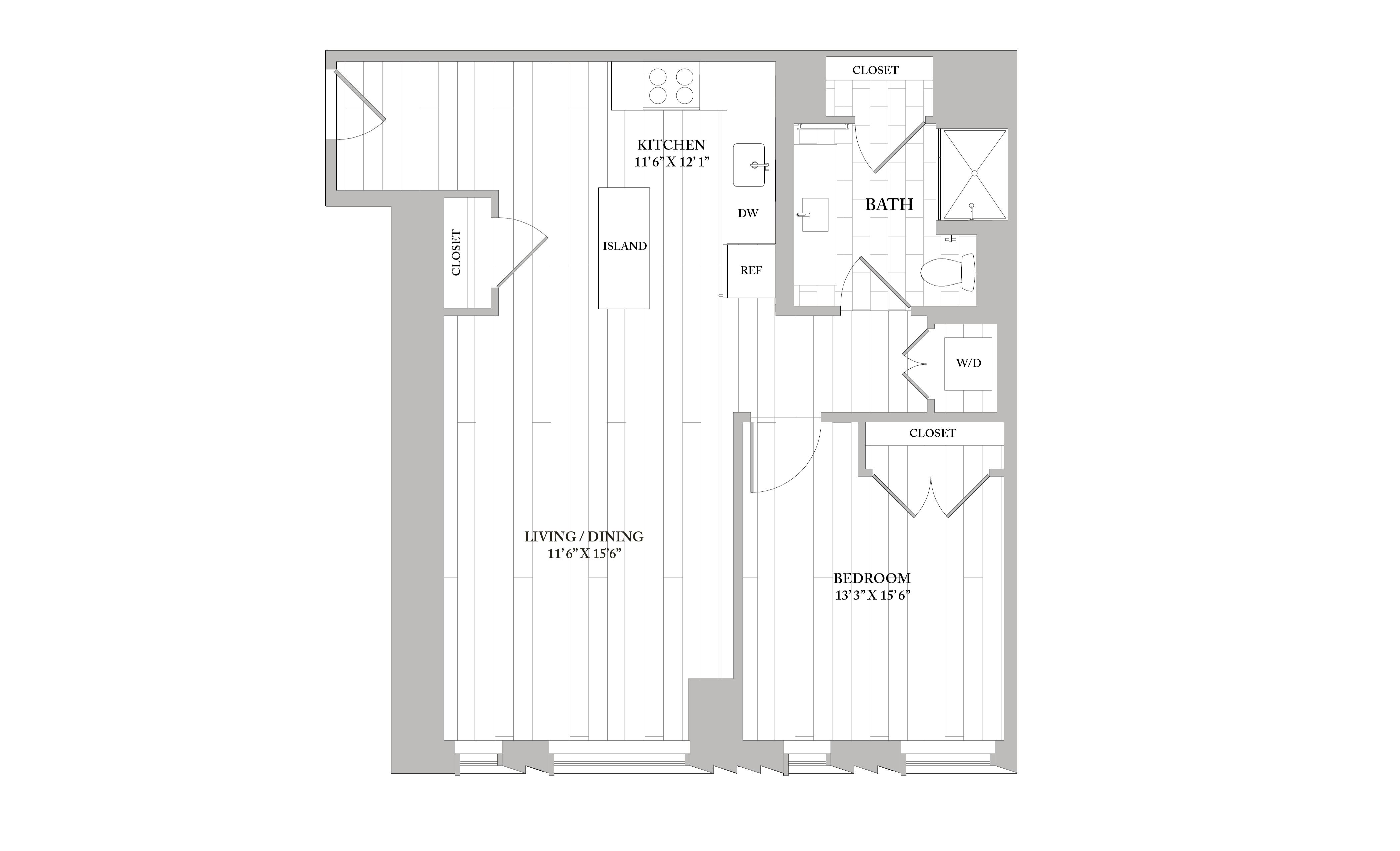 Apartment 1007 floorplan