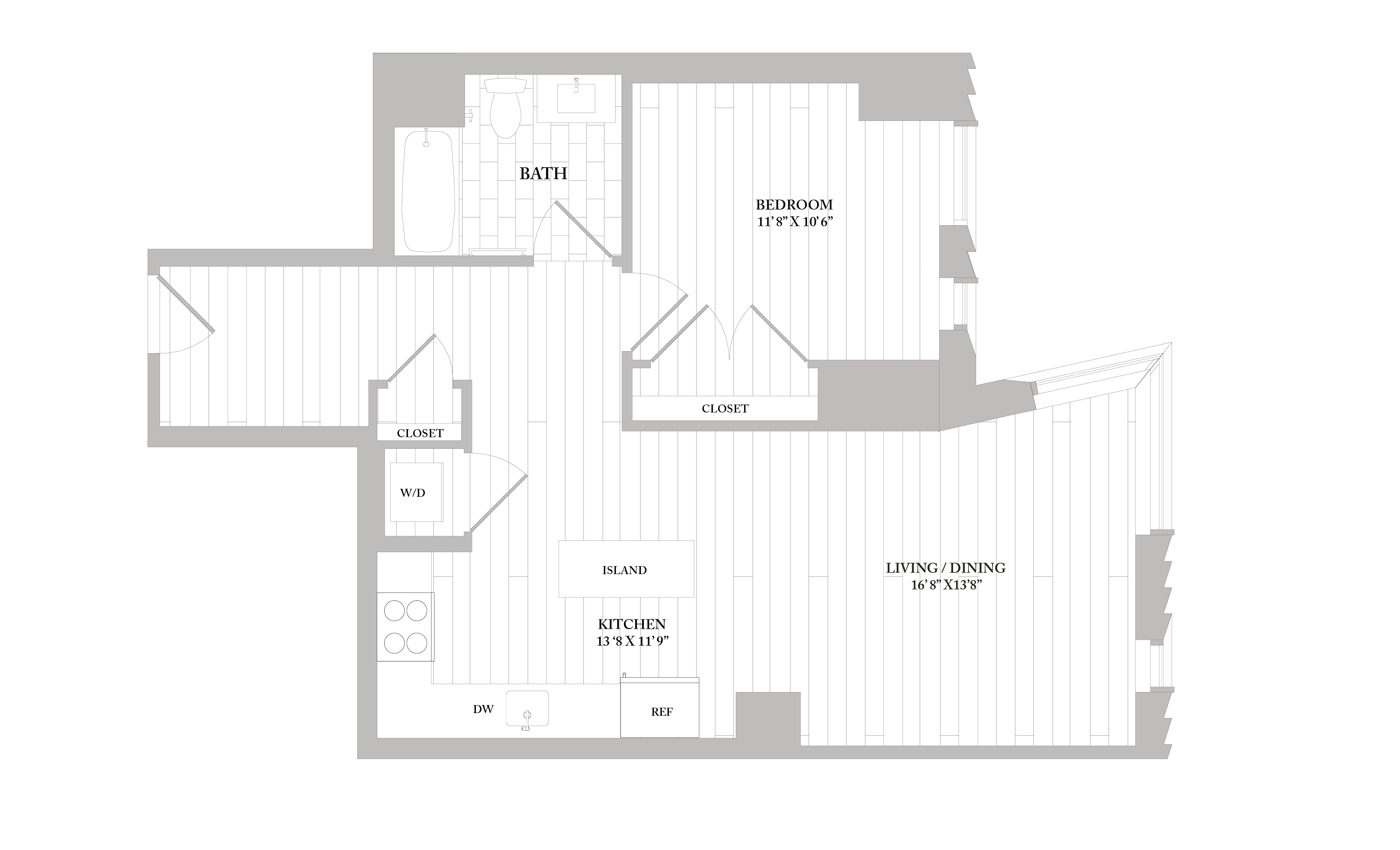 Apartment 0603 floorplan