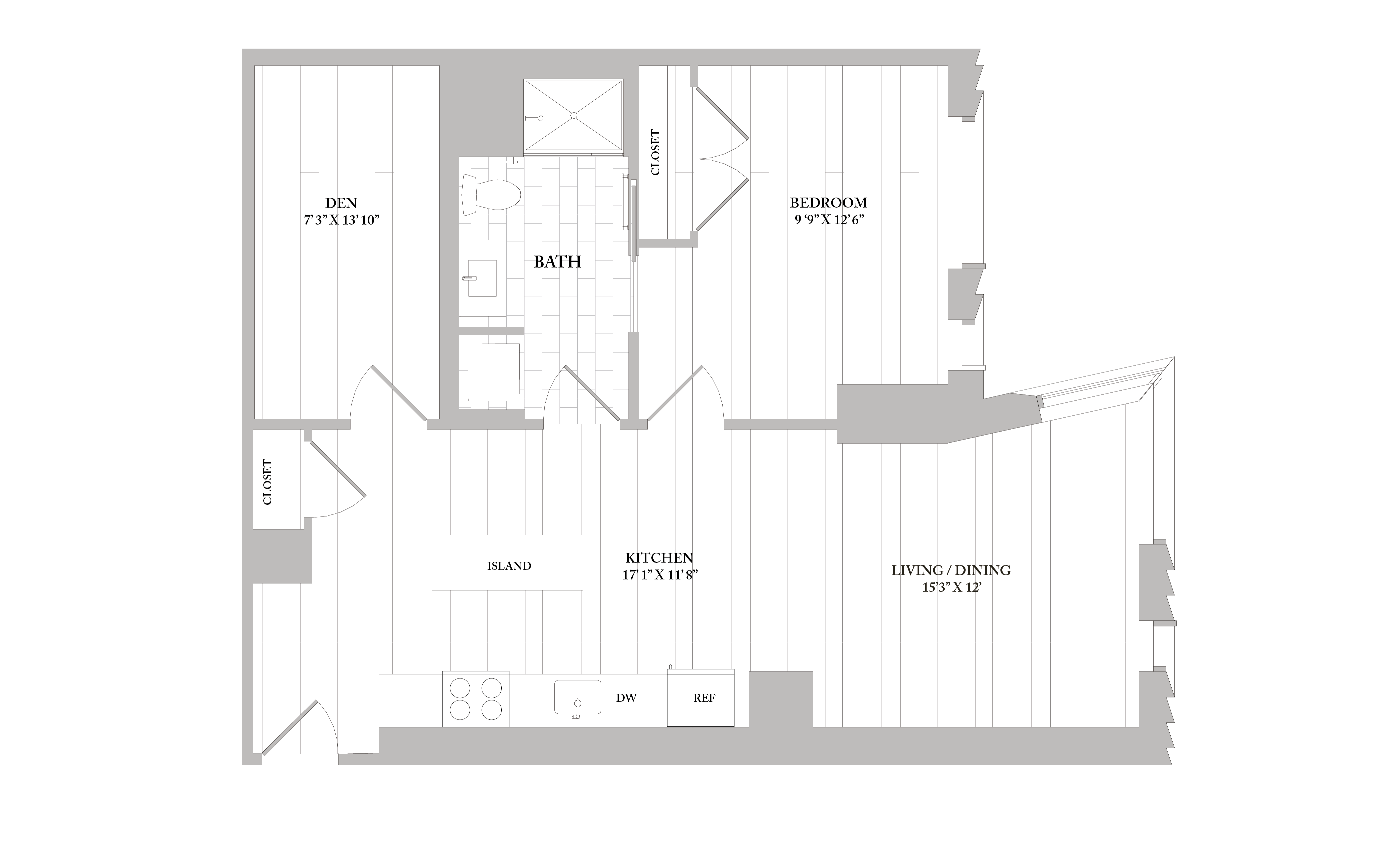 Apartment 3501 floorplan