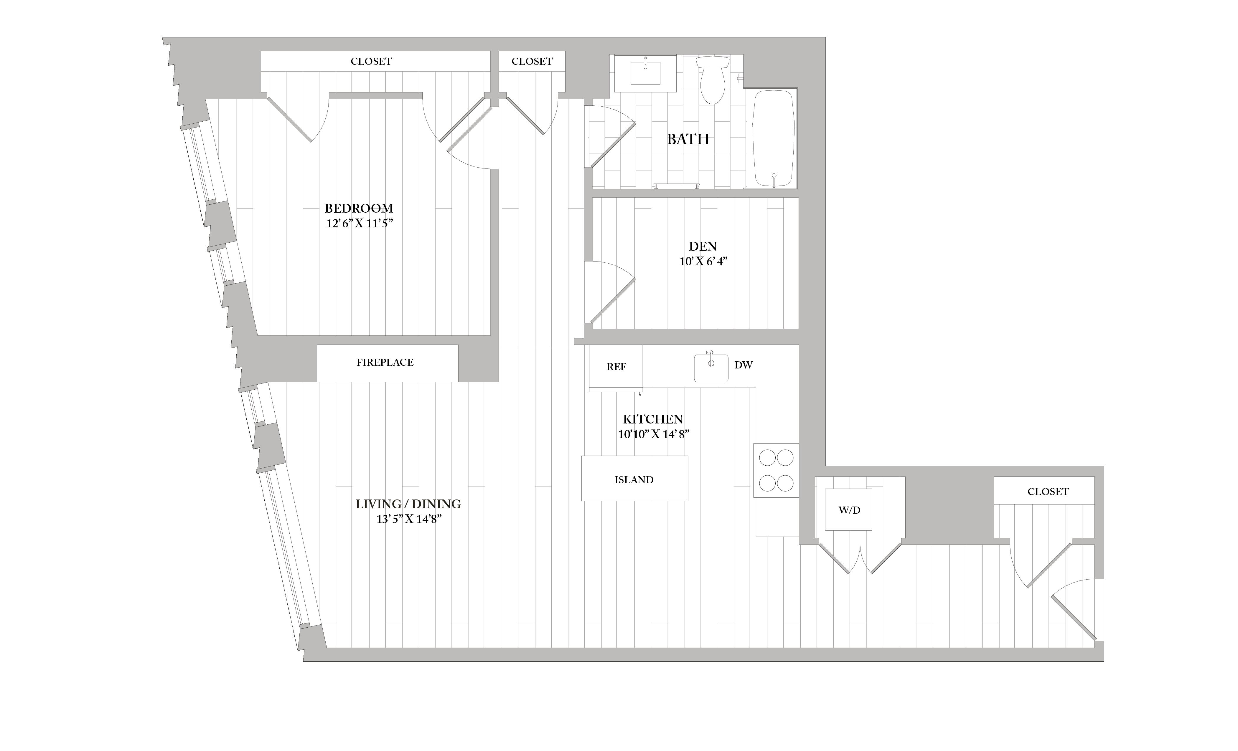 Apartment 3507 floorplan