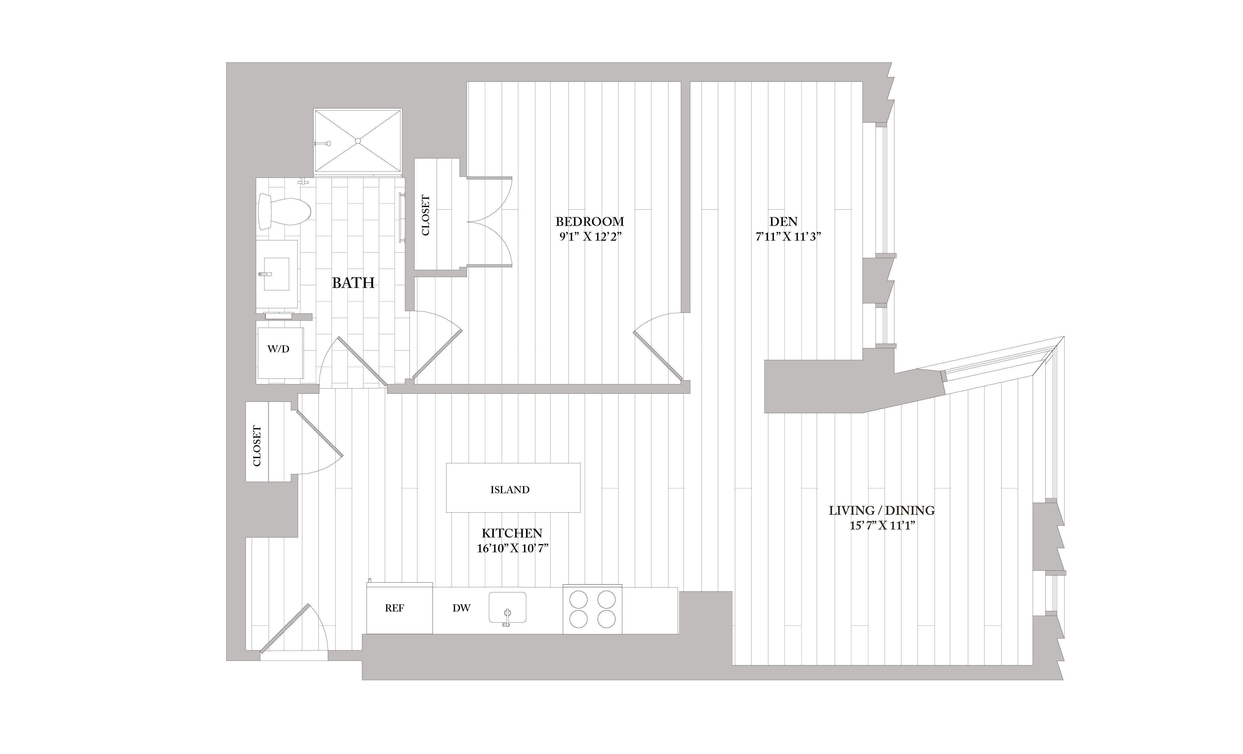 Apartment 1201 floorplan