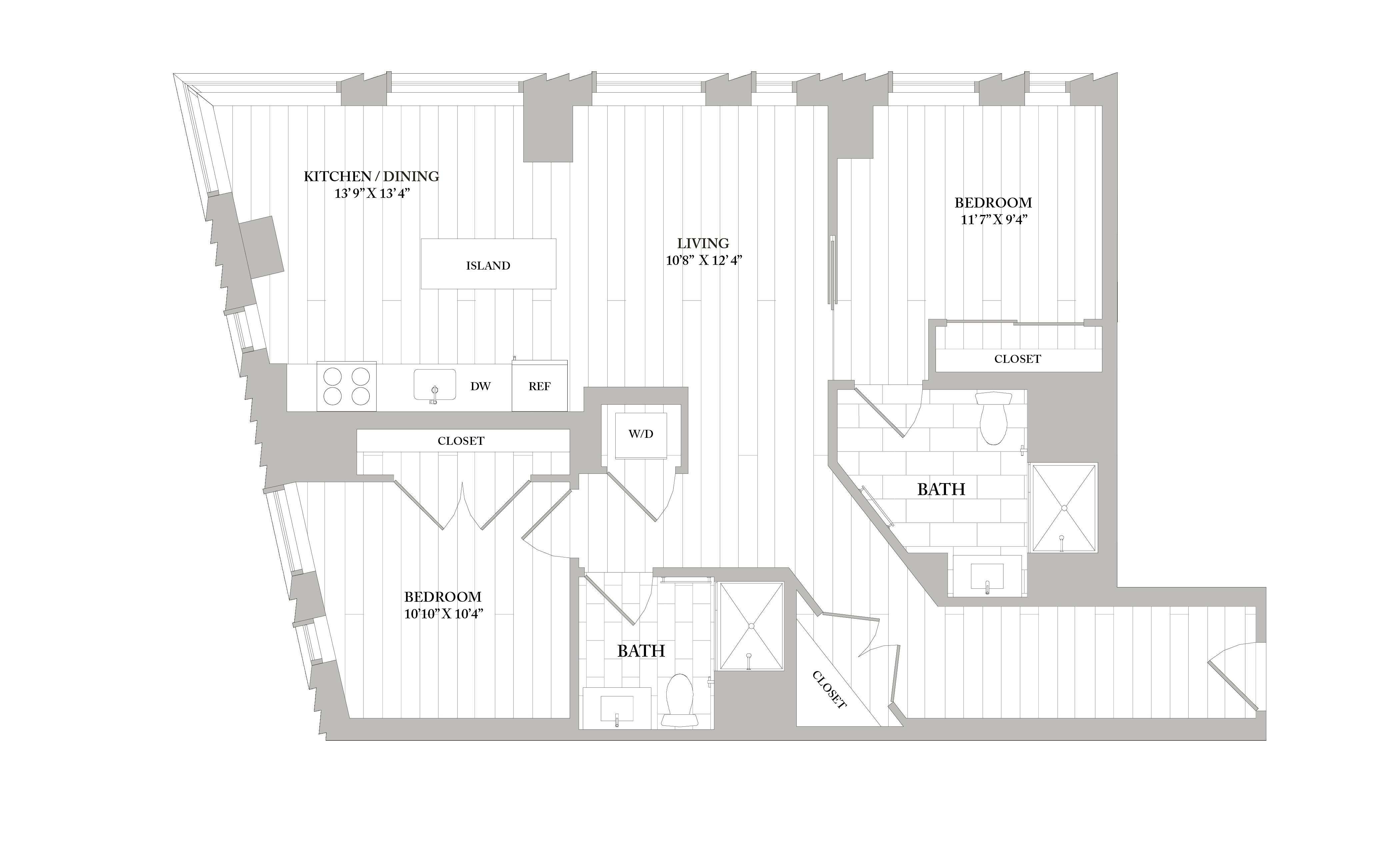Apartment 1005 floorplan