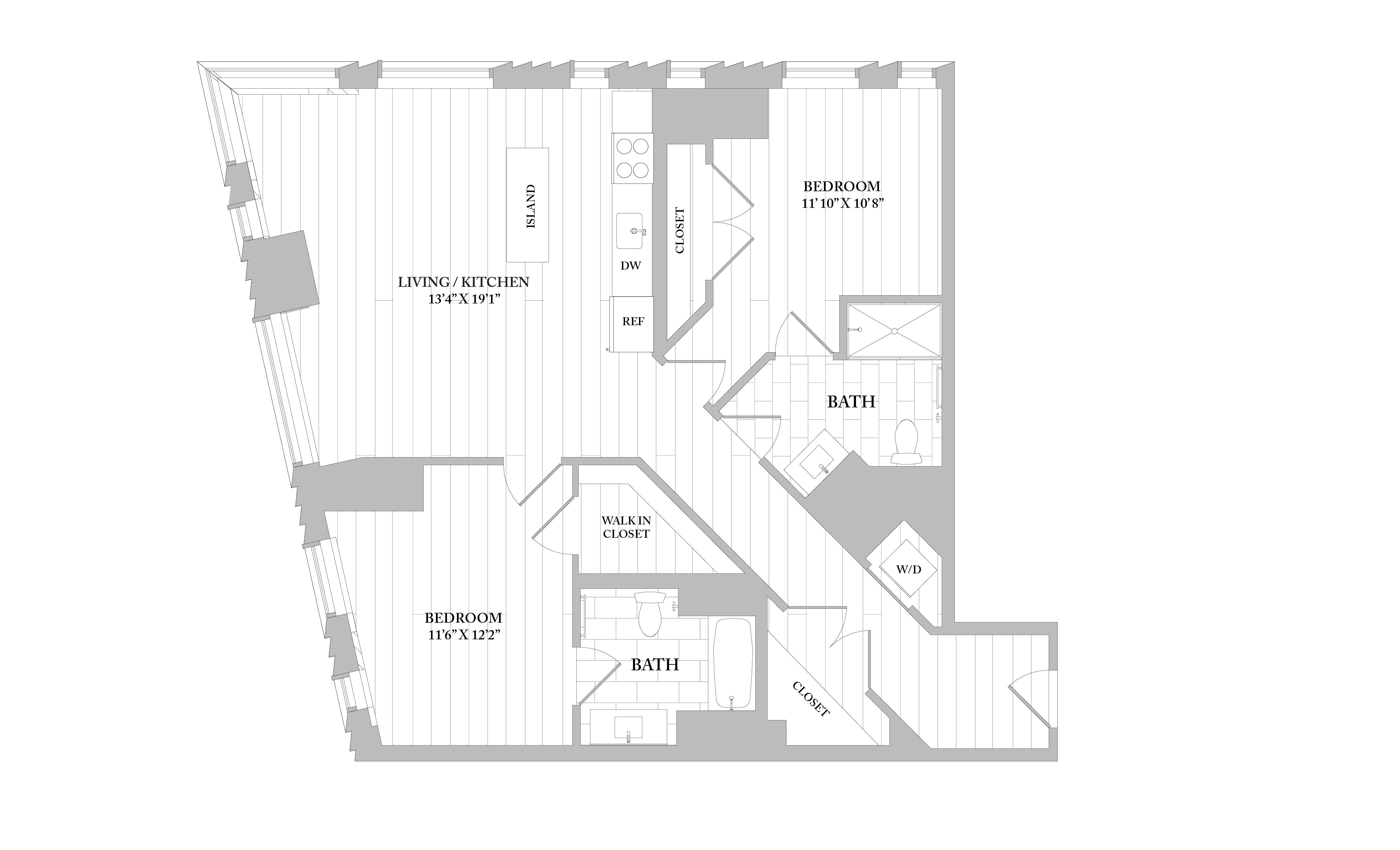 Apartment 2511 floorplan