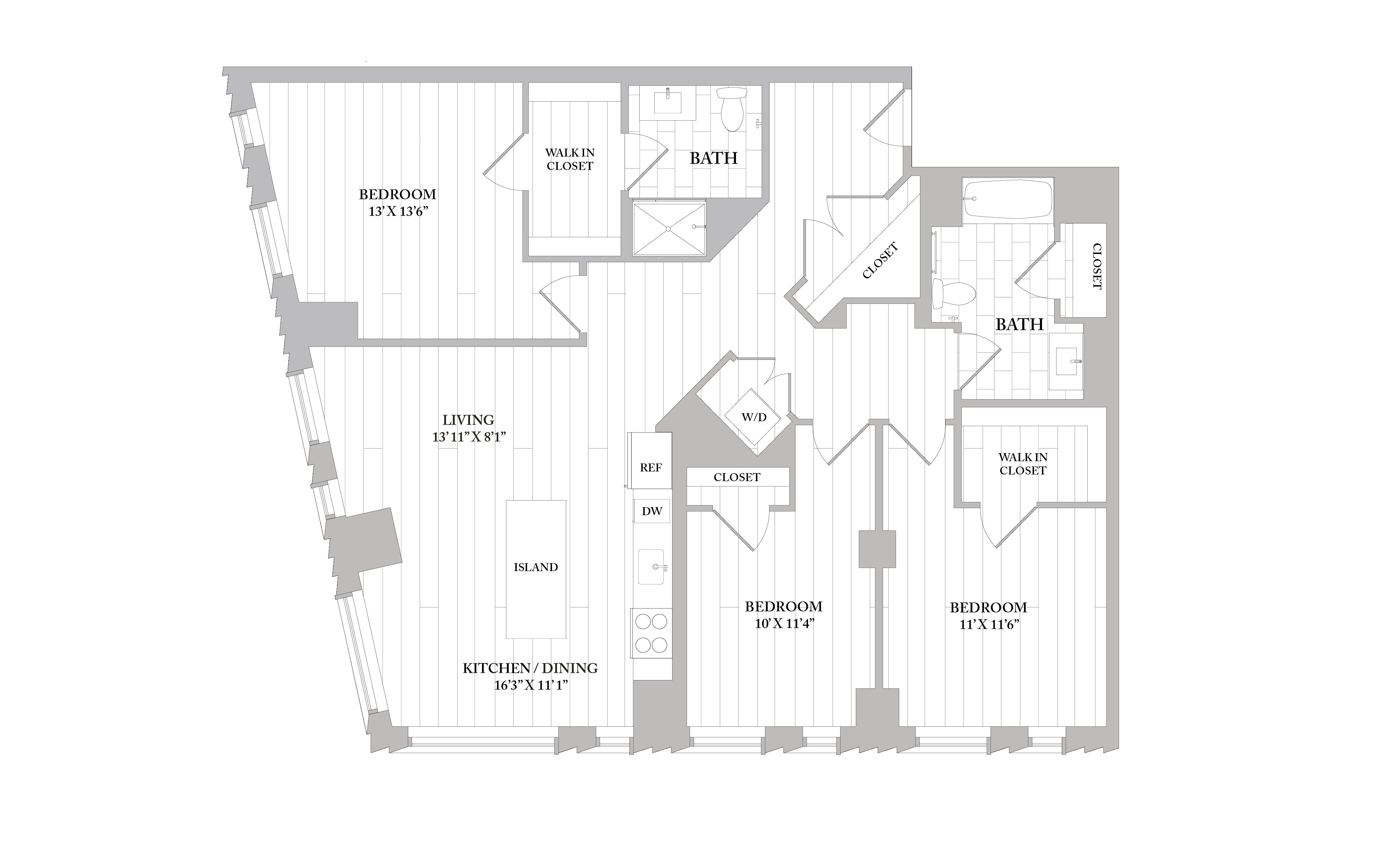 Apartment 1002 floorplan