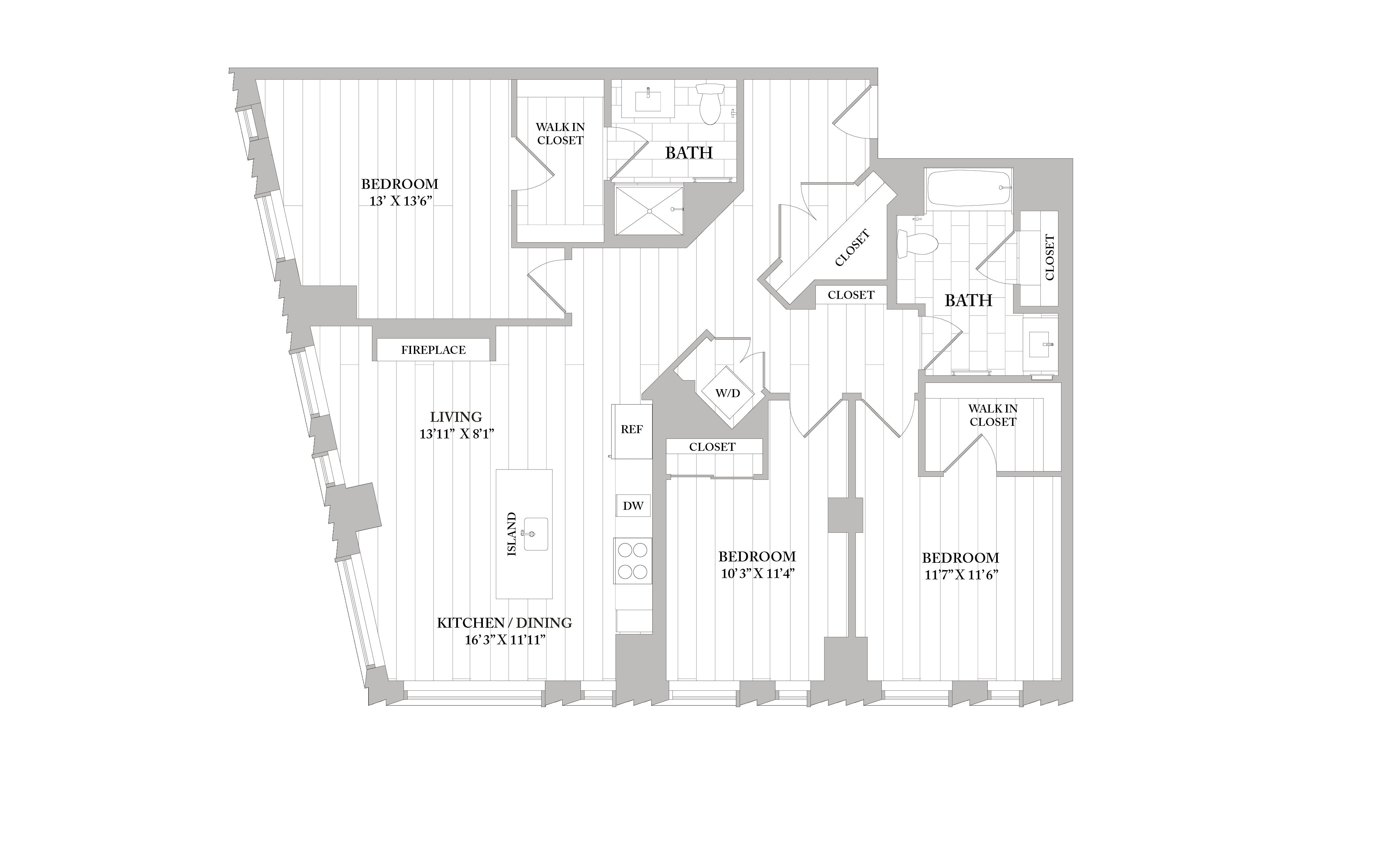 Apartment 3502 floorplan