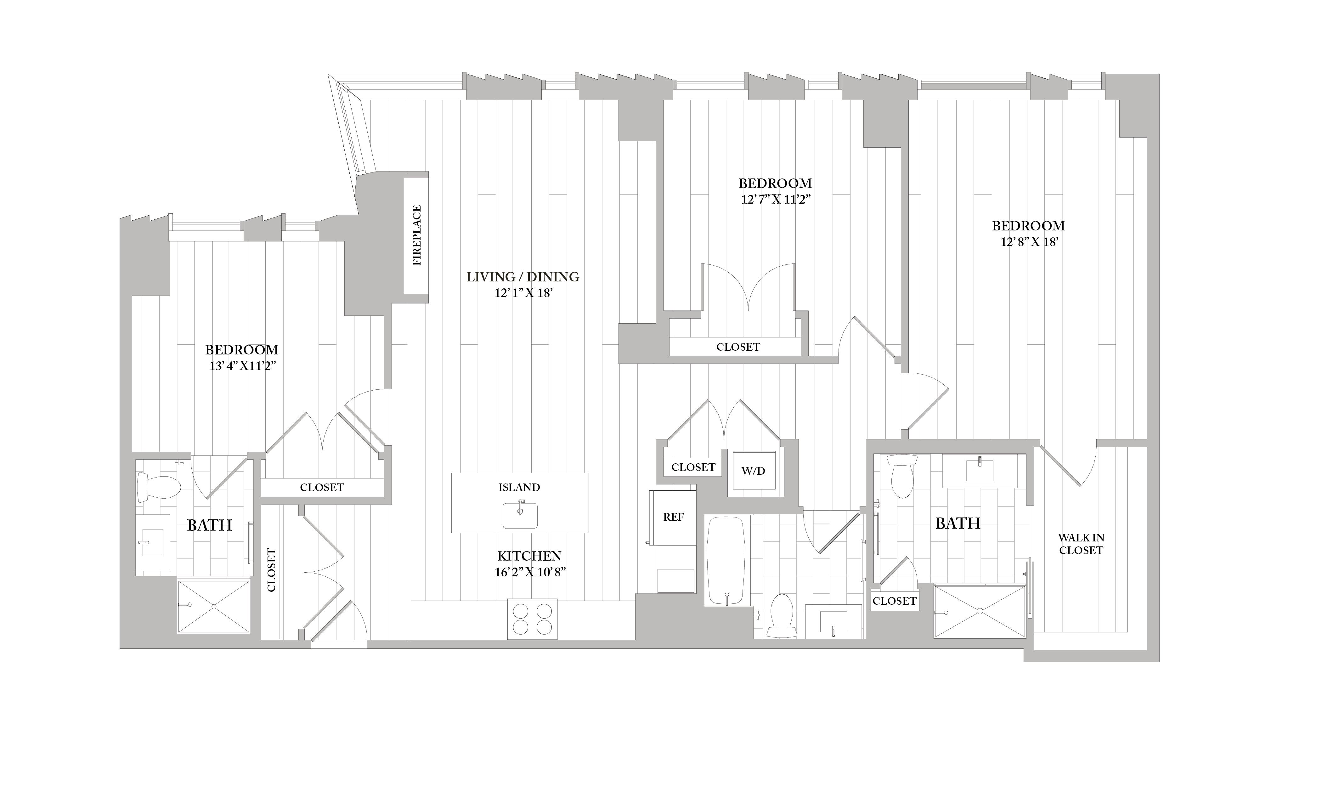 Apartment 3505 floorplan