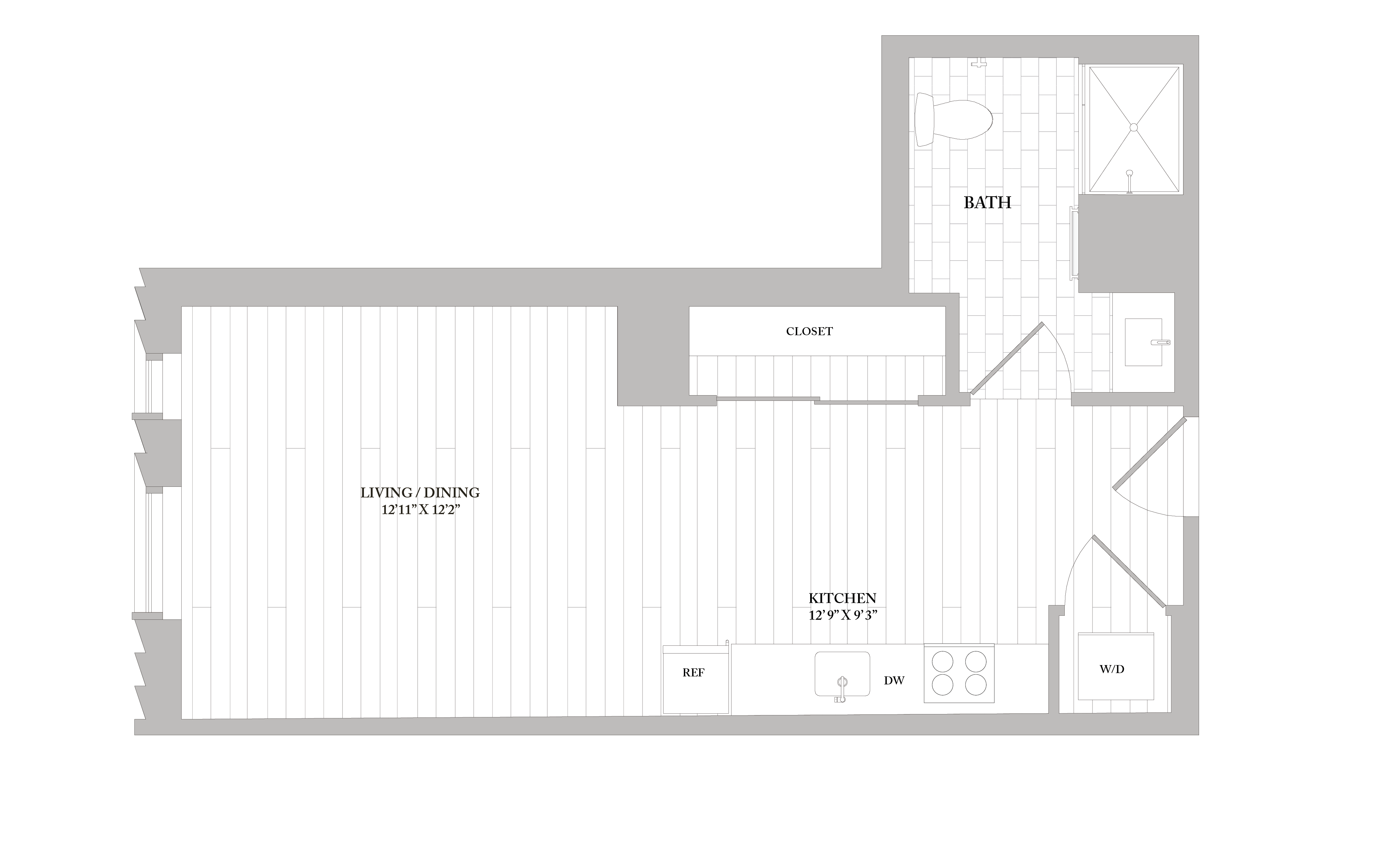 Apartment 0702 floorplan